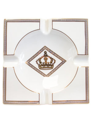 Diamond Crown White Ashtray