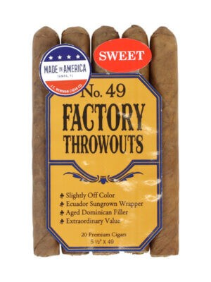 Factory Throwout No 49 Sweet Cigars
