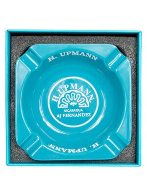 H. Upmann Aqua Blue Ashtray